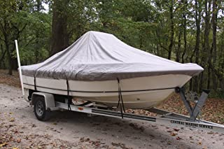 """VORTEX Heavy Duty Grey / Gray Center Console Boat Cover for 19'7"""" - 20'6"""" Boat 1 to 4 Business Day DELIVERY"""