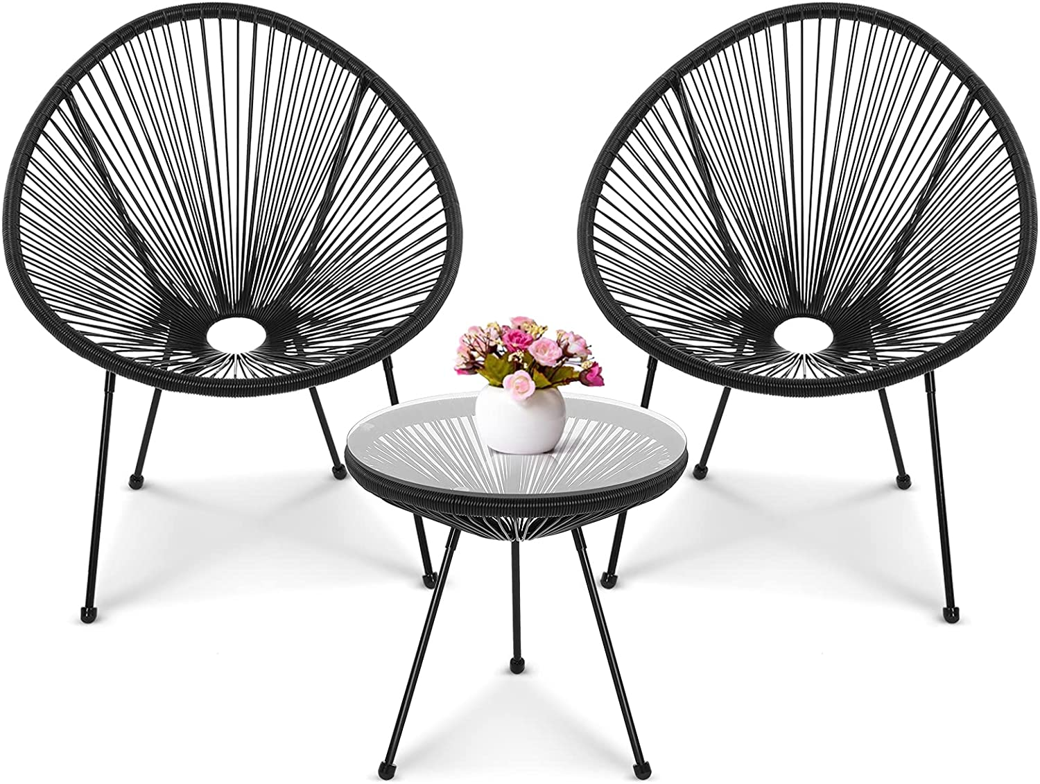 New color Patio Acapulco Lounge Chairs 3 Co Max 68% OFF Piece STOOG Outdoor Furniture