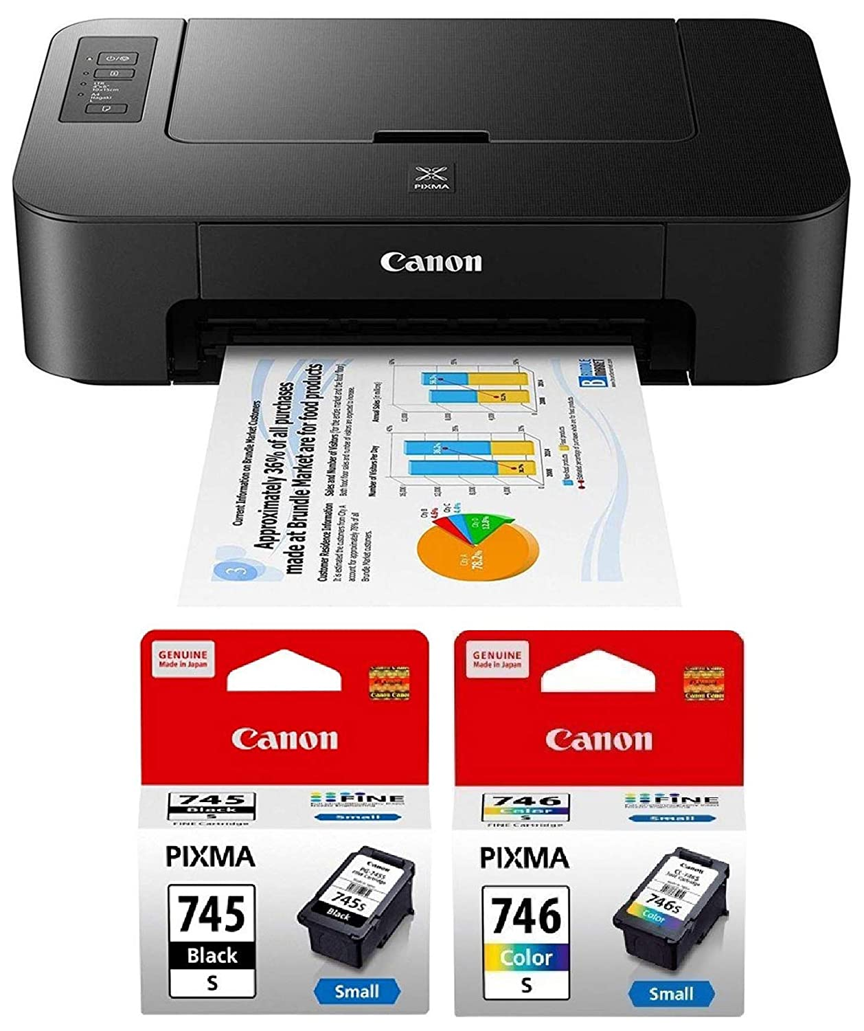 Amazon In Buy Canon Pixma Ts207 Single Function Inkjet Printer Black Online At Low Prices In India Canon Reviews Ratings