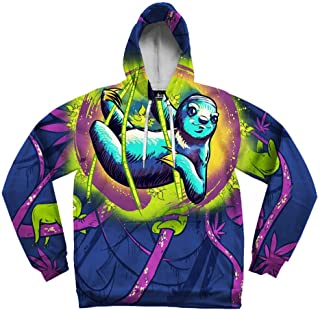 Electro Threads • 100% Polyester Graphic Hoodie, Colorful Sweatshirt for Men and Women