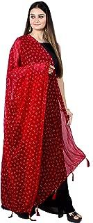 Women's Chiffon Rubber print Banarasi Dupatta(D191)