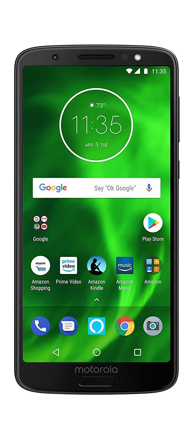 Moto G6 with Alexa Push-to-Talk – 32 GB – Unlocked (AT&T/Sprint/T-Mobile/Verizon) – Black - Prime Exclusive Phone