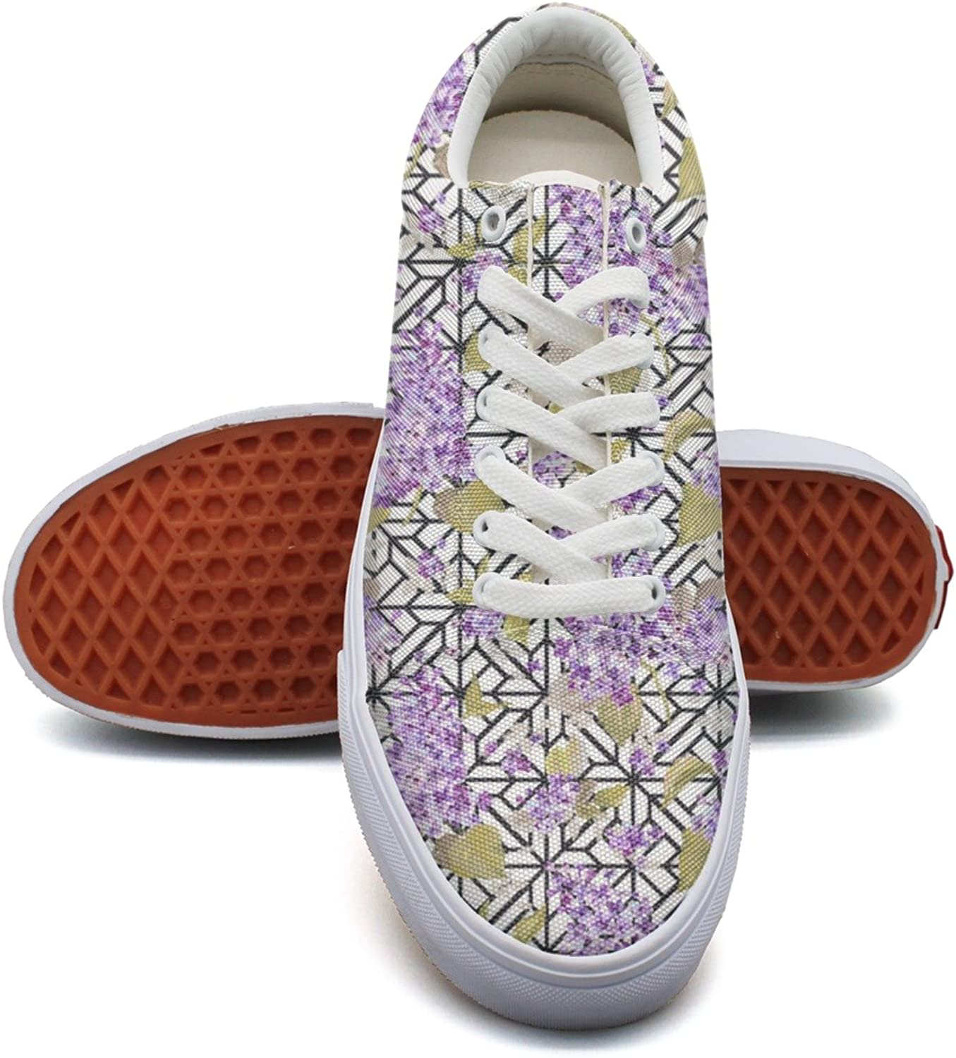 Hjkggd fgfds Casual Purple Wisteria Plant Womens Canvas Sneakers shoes
