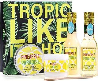 Sel de Bain Relaxant BFFLOVE Sel d'epsom Sel de Bain à l'ananas Bio Coffrets Cadeaux Spa Sel de Bain Moussant Soins du Cor...