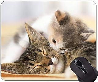 Gaming Mouse Pad Custom,Baby Animal Kitten Animal Cute Kissing Band Love Cat Non-Slip Rubber Base Mousepad