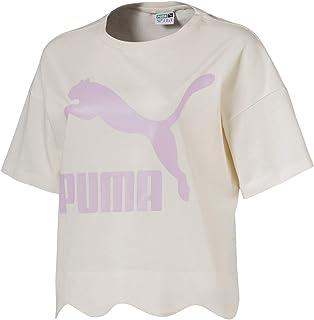 Puma Scallop Tee For Women, Size XL Beige