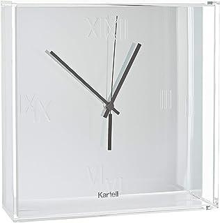 Kartell 01910XX Tic&Tac, Pendule, Chromè, Bianco (Cromato)