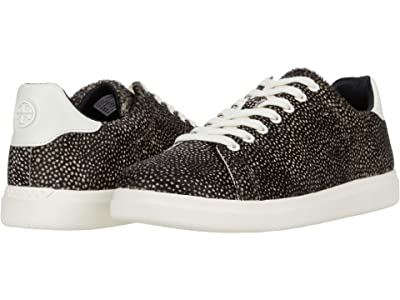 Tory Burch Howell Court (Black/White Spotted Haircalf/New Ivory) Women
