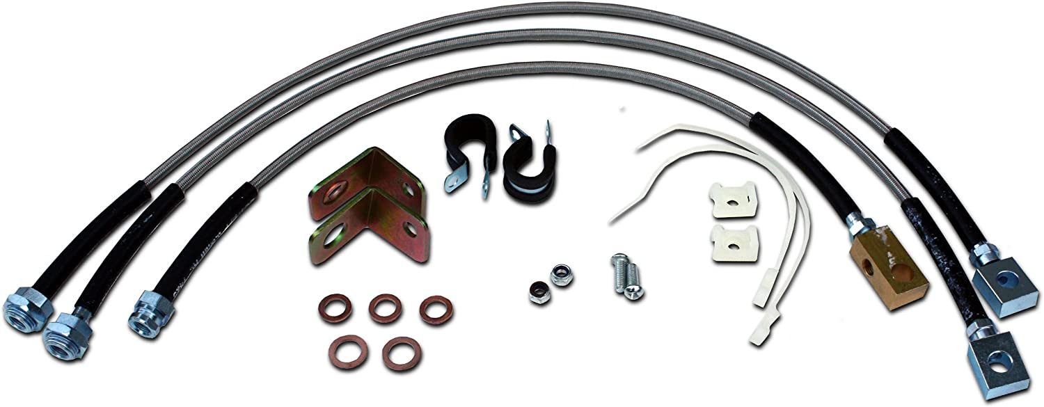 Max 78% OFF Stainless Steel Extended Brake Popular Line Kit with Wrangler Compatible