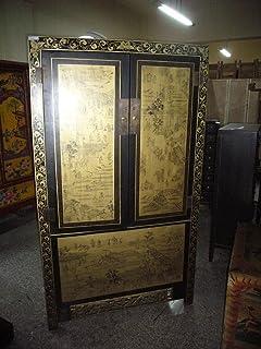 Chinois antique armoire Tibet Asiatika Asie KABINET Armoire Armoire 2portes Chine breite90x höhe165cm