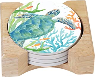 Otomi Lizard 4 Pack Absorbent Stone Coaster