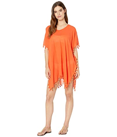 Seafolly Amnesia Kaftan Cover-Up (Tangelo) Women