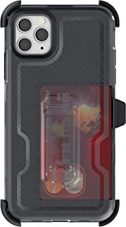 Ghostek Iron Armor Designed for iPhone 11 Pro Max Case with Belt Clip Holster Rugged Built-In Kickstand & Card Holder Heavy Duty Protection Wireless Charging Compatible iPhone11 Pro Max (6.5
