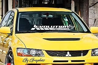 Evolution v6 Lancer Evo 三菱 自動車 JDM Japan Made Rising Sun Evolution GT-A RS GSR MR MIVEC DOHC Car Vinyl Sticker Decal Banner (38