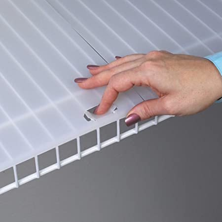 """Shelf Liner for 16"""" Wire Shelving with Locking Tabs - 10 Foot Roll"""