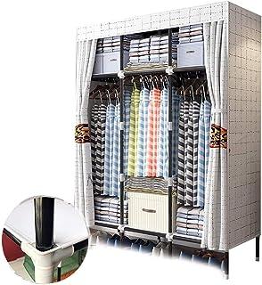 ZZYE Penderie tissu Placard portable Vêtements de vêtements Stabilité Points de rangement Stockage Organisateur Organisate...