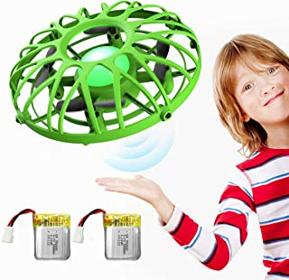 EACHINE UFO Flying Ball Drone for Kids, E111 Blue Hand Operated Induction Levitation UFO Mini Drone Easy Play Indoor and Outdoor Scoot Hover Drone Helicopter Toy for Boys and Girls (Green)