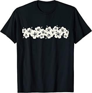 Surfer Style Vintage Floral   Hibiscus Flower Row 1970s T-Shirt