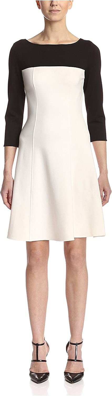 Natori Women's Color-Block Elbow Sleeve Dress