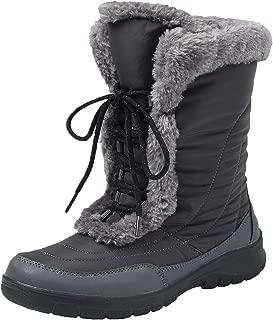 Shenda Women's Mid-Calf Nylon Fabric Snow Boots E7629