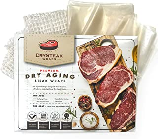 DrySteak Wraps for Dry Aging Meat at Home, Dry Age Sirloin, Ribeye and Short Loin
