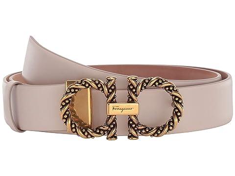 Salvatore Ferragamo Gancini Twisted Adjustable Belt