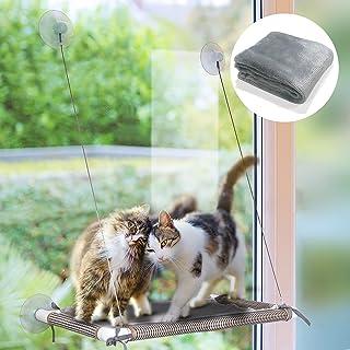 HOPET Cat Window Perch, Cat Beds Cat Window Hammock Cat Window Seat for Large Indoor Cats