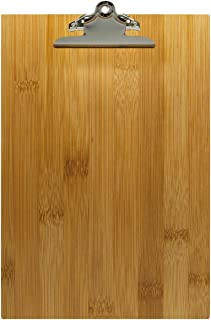 18,5 x 24,5 x 0,6 cm Genware NEV-WMC17 Men/ü-Klemmbrett aus Holz A5