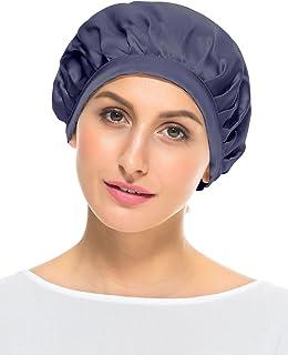 09e19cde5ef LITHER Women 100% Mulberry Silk Cap Sleeping Hat Head Cover Bonnet Cap for  Hair Beauty
