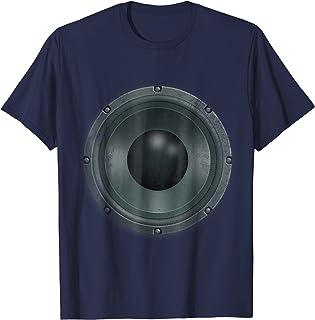 Bass Speaker Woofer Tee Shirt for musicians DJs and fans