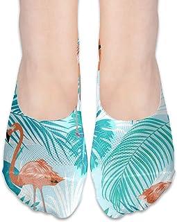 ALPHNJ, Calcetines Flamingo (2) Mocasines de corte bajo para mujer Calcetines invisibles para niña