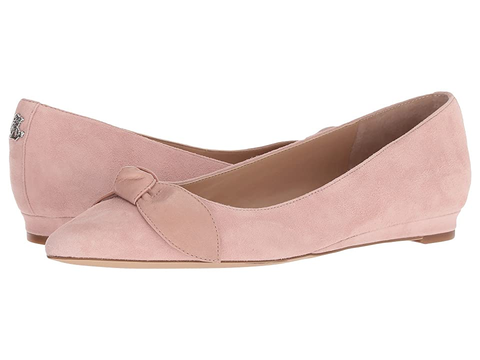 LAUREN Ralph Lauren Amarinda (Pearl Pink/Pearl Pink Kid Suede/Super Soft Leather) Women's Flat Shoes