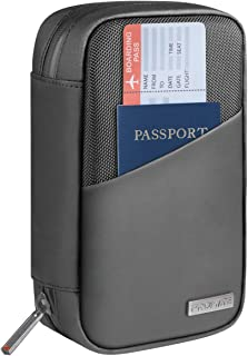Promate Electronics Organizer, Multipurpose Universal Travel Pouch with Secure Zipper, IPX 3 Water Resistant, Document Org...