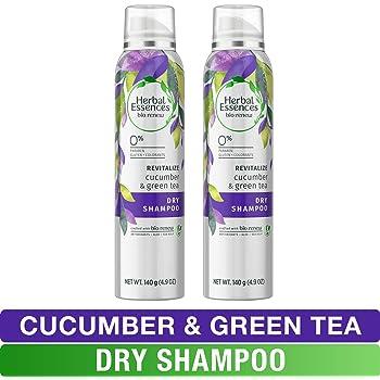 Herbal Essences, Dry Shampoo, Paraben Free, BioRenew Cucumber & Green Tea, Aloe and Sea Kelp, 4.9 fl oz, Twin Pack