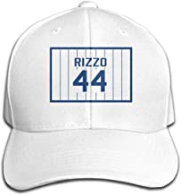 Top Level Casquette Anthony-Rizzo-Number #44 Cap Men Women - Classic Plain Hat White