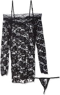 فستان لانجري نسائي بتصميم مخرم موديل (b096)