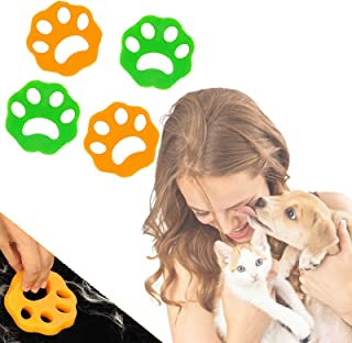 GroTheory Pet Hair Remover for Laundry (4 Pack), Dogs and Cats Hair Catcher for Laundry Clothes Bedding and Hair, Eco-Frie...