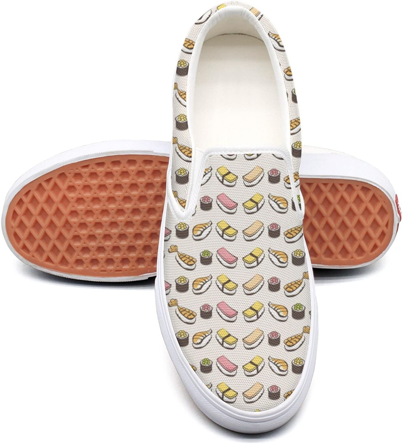 Lalige Fish Sushi Women's Comfortable Canvas Slip-on Sneakers
