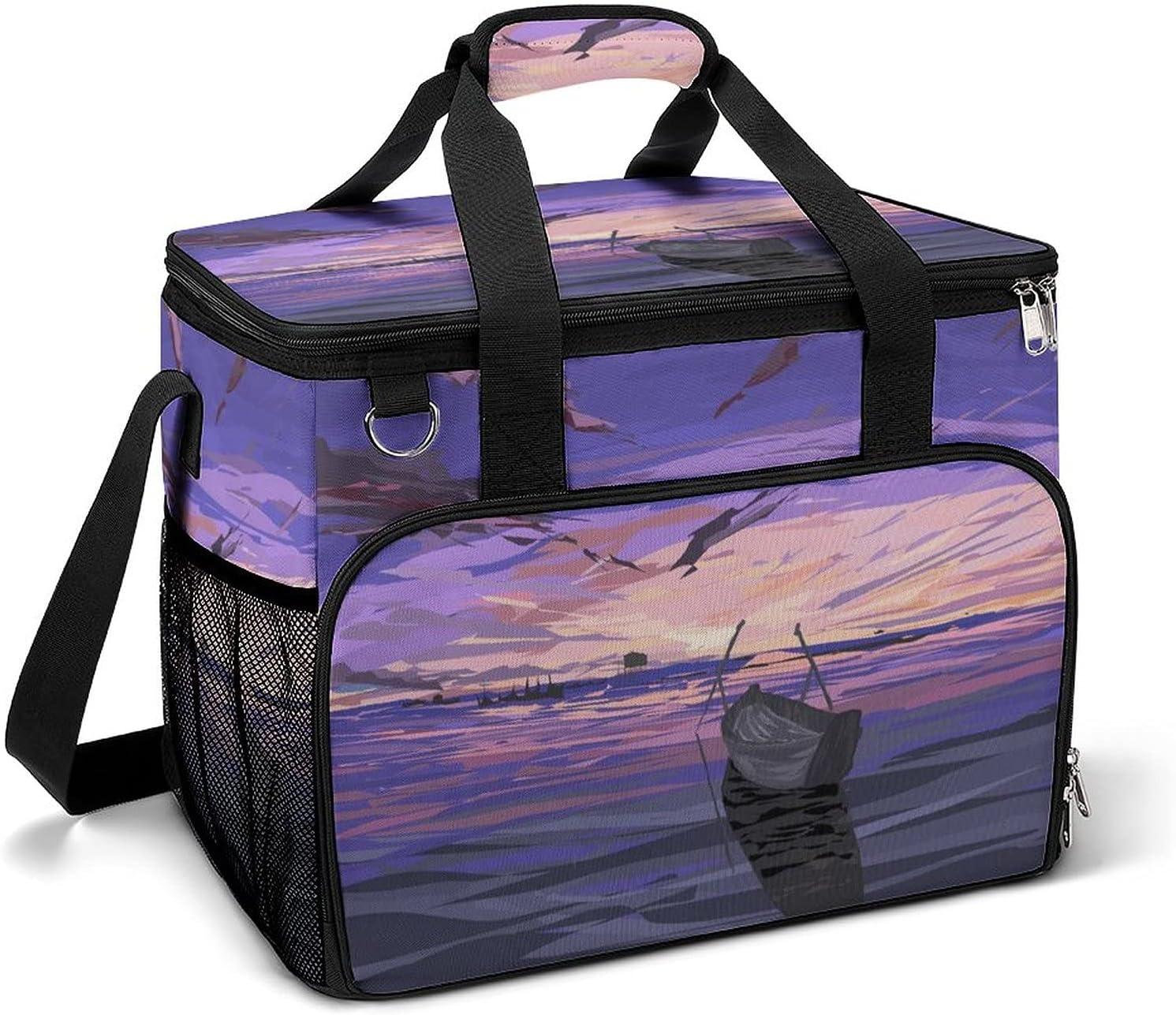 Cooler Ice Fashion Bag Sunset Sky Large Pattern Custom Capacity Max 90% OFF Portable