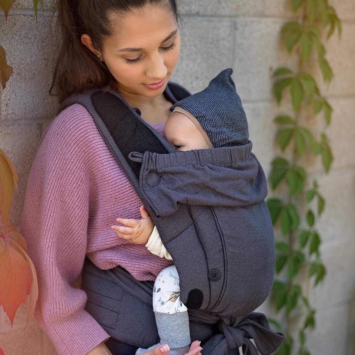 Bondolino Plus Babytrage inklusive Bindeanleitung Slim-Fit Camouflage