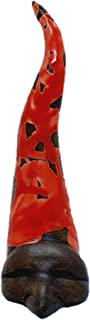 Corno Napoletano portafortuna con maschera di Pulcinella bomboniera artigianale