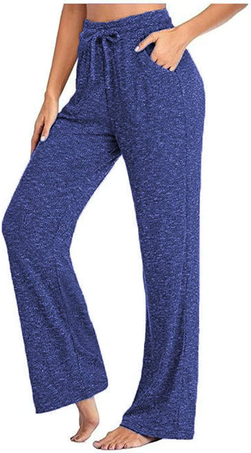 NREALY Women Topics Max 54% OFF on TV Casual Yoga Wide Pants Trousers Quick-Drying