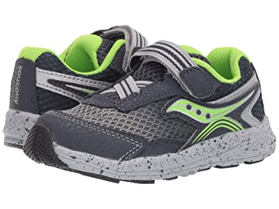 Saucony Kids Ride 10 Jr (Toddler/Little Kid) (Navy/Green Leather/Mesh) Boys Shoes
