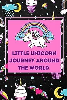 Little Unicorn Journey Around World: Cute Magic Unicorn colouring book for kids 4-9