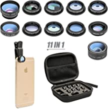 11 in 1 Cell Phone Camera Lens Kit Wide Angle Lens & Macro Lens+Fisheye..