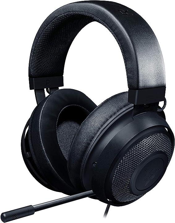 Razer kraken, gaming headset, le cuffie cablate per il gaming multipiattaforma per pc, ps4, xbox one + switch RZ04-02830100-R3M1