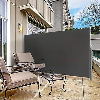 vidaXL Balcony Screen Outdoor Garden Screening Fencing Panel Protective Privacy Fence Wall Screen Sunshade Windbreak Cream 90x400 cm HDPE