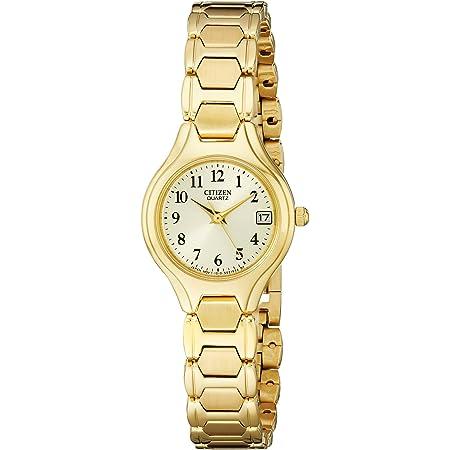 Citizen Quartz Womens Watch, Stainless Steel, Classic, Gold-Tone (Model: EU2252-56P)