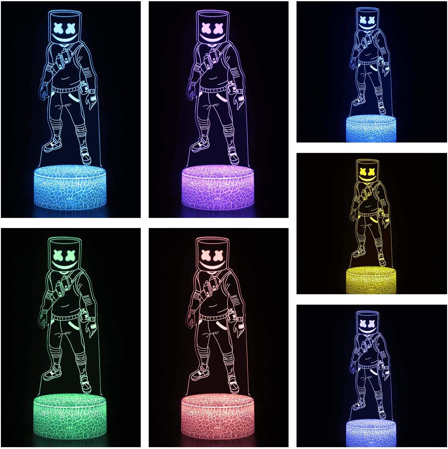 3. Game Series Battle Royale 3D Illusion Night Lamp