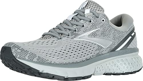 Brooks Women's Ghost 11 Road Running Shoes, Grey/Silver/White